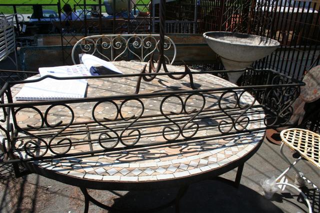 Complementi da giardino portavasi in ferro battuto da for Complementi da giardino
