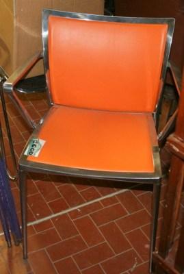 Sedute e cassapanche sedia in alluminio e rete for Sedie cucina arancioni