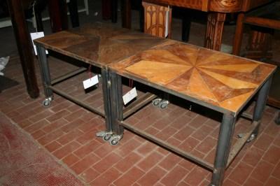 Tavolini da salotto : Tavolino con ruote in ferro e piano in ...
