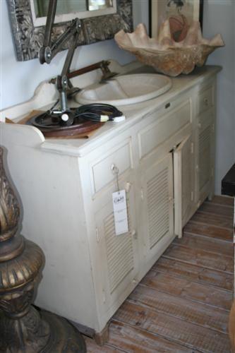 Arredi da bagno mobile doppio con lavello provenzale - Mobile bagno stile provenzale ...