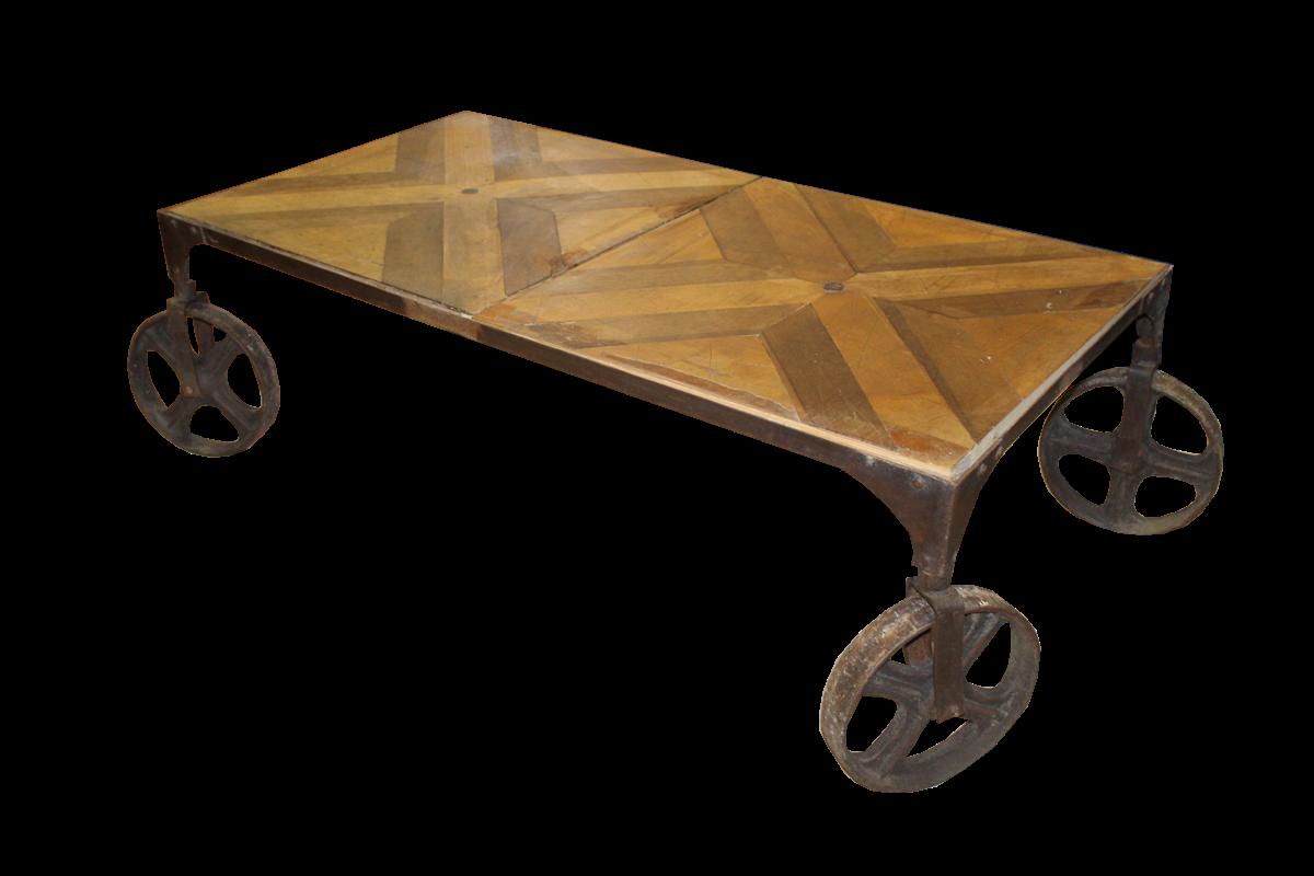 Tavolino Con Le Ruote.Tavolini Da Salotto Tavolino Con Ruote In Ferro E Piano In