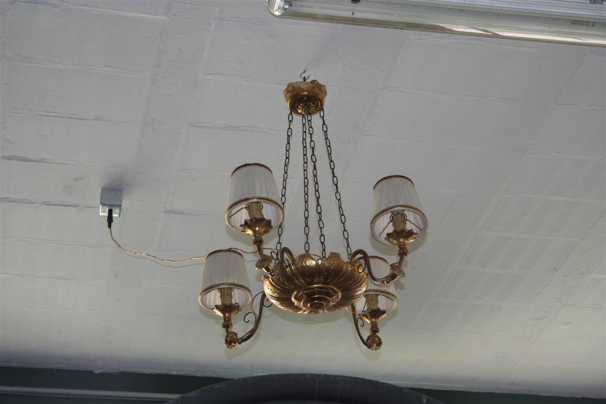 Lampadario In Legno Design : Illuminazione lampadario in legno dorato
