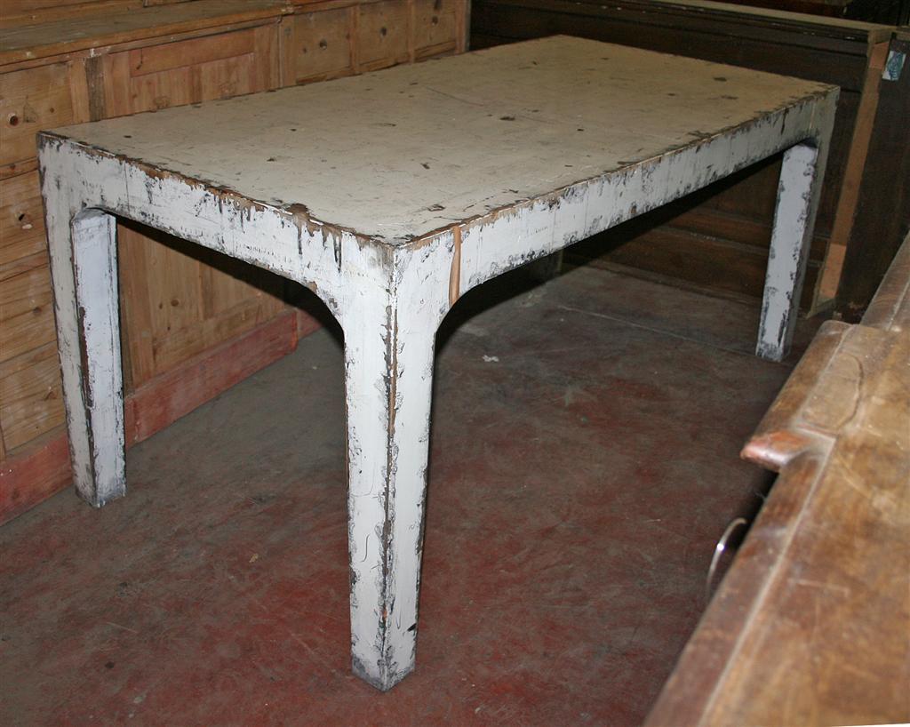 Tavoli: Tavolo shabby chic rosso