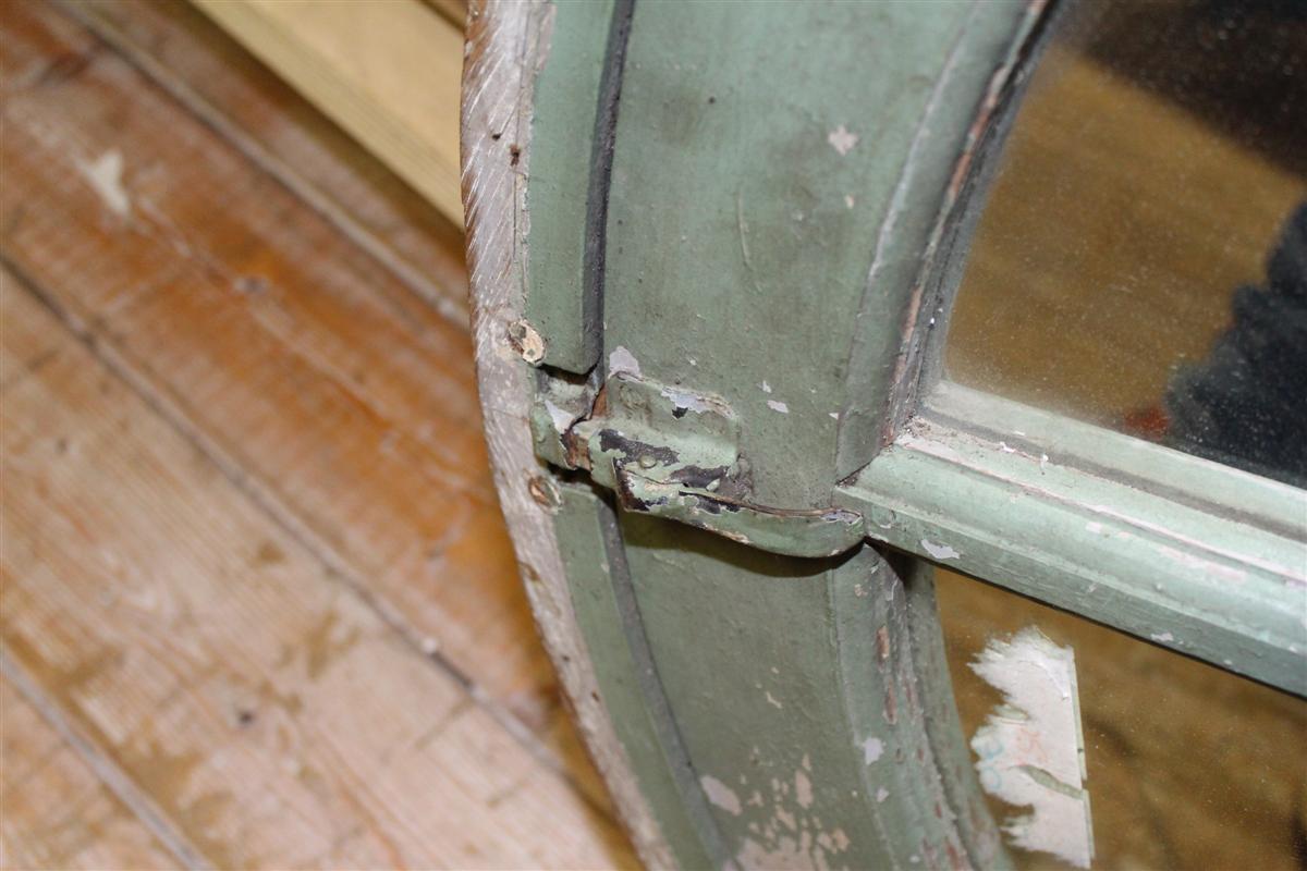 Specchi e cornici specchiera rotonda in legno - Finestra rotonda e ovale ...