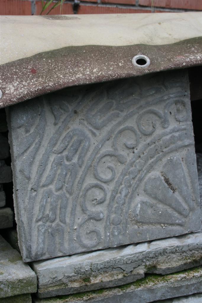 Complementi da giardino mattonelle in cemento decorate for Complementi da giardino