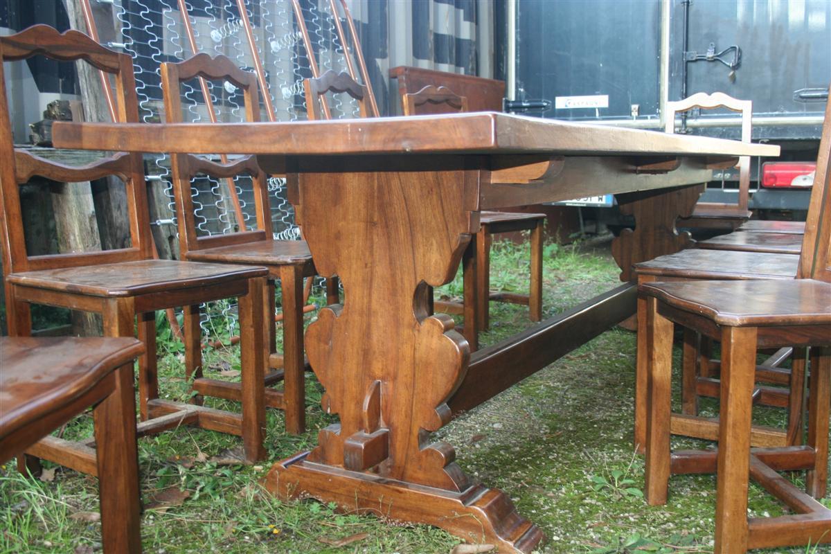 Tavoli tavolone rustico in noce for A tavolone