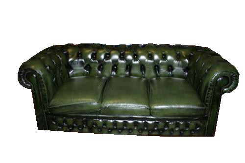 Divani e poltrone divano chesterfield tre posti verde for Lunghezza divano tre posti