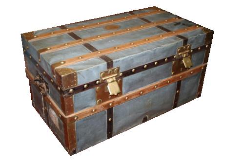 Bauli e Valigie : Baule in zinco con doghe in legno