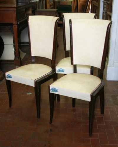 Sedute e cassapanche: Sedia decò in pelle