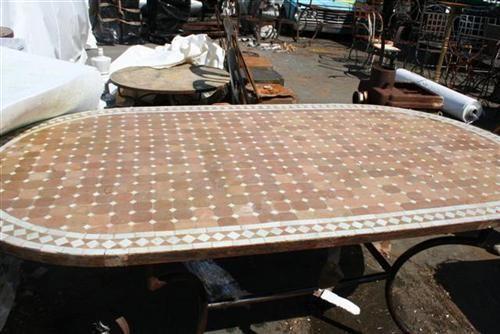 Tavoli Da Giardino In Ceramica Usati.Tavoli Da Giardino Ferro E Mosaico Set Da Giardino Alison In Ferro